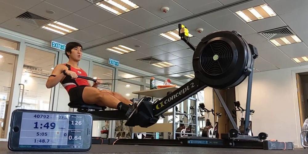 賽艇運動員陳至鋒3破世績  創全馬新世界紀錄
