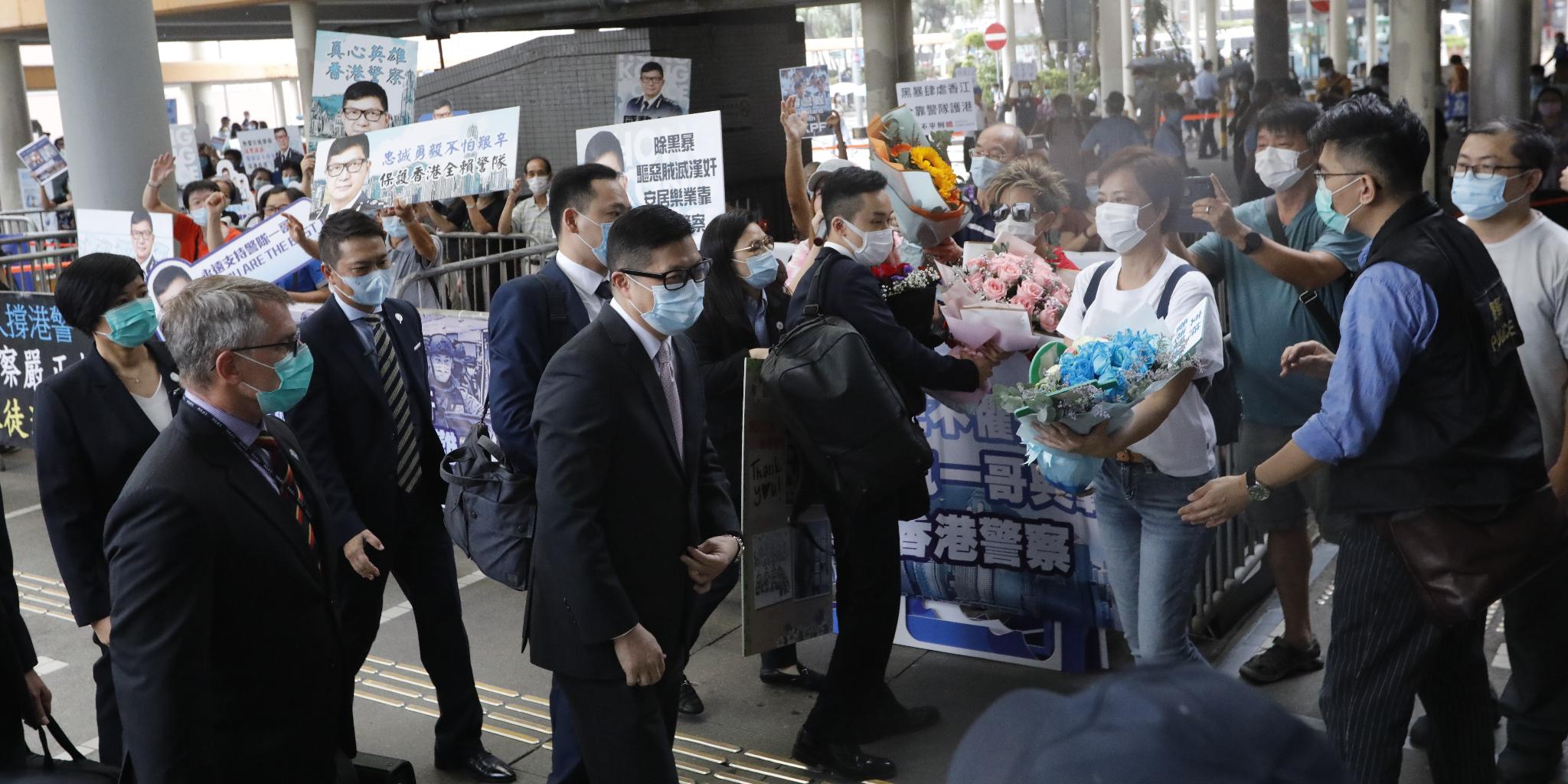 鄧炳強:國安法實施後逾廿人被捕  法例具震懾力