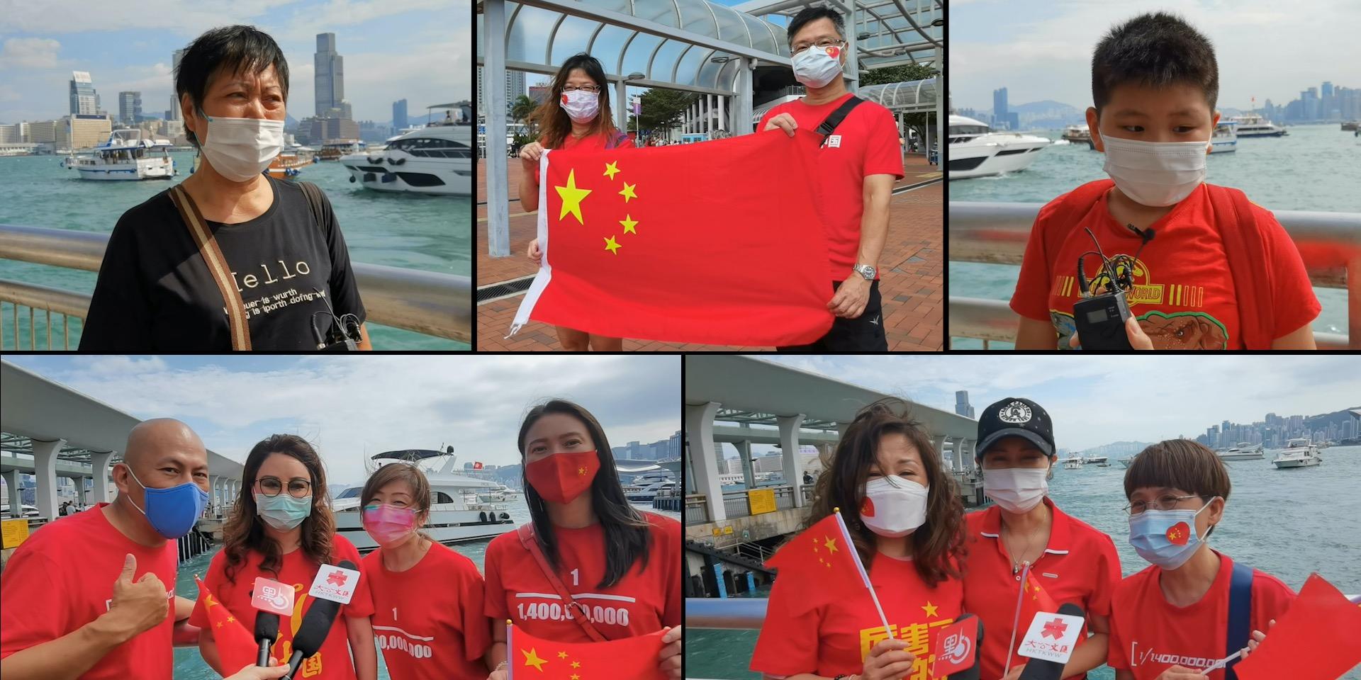 漁船維港巡遊 同市民共慶國慶中秋