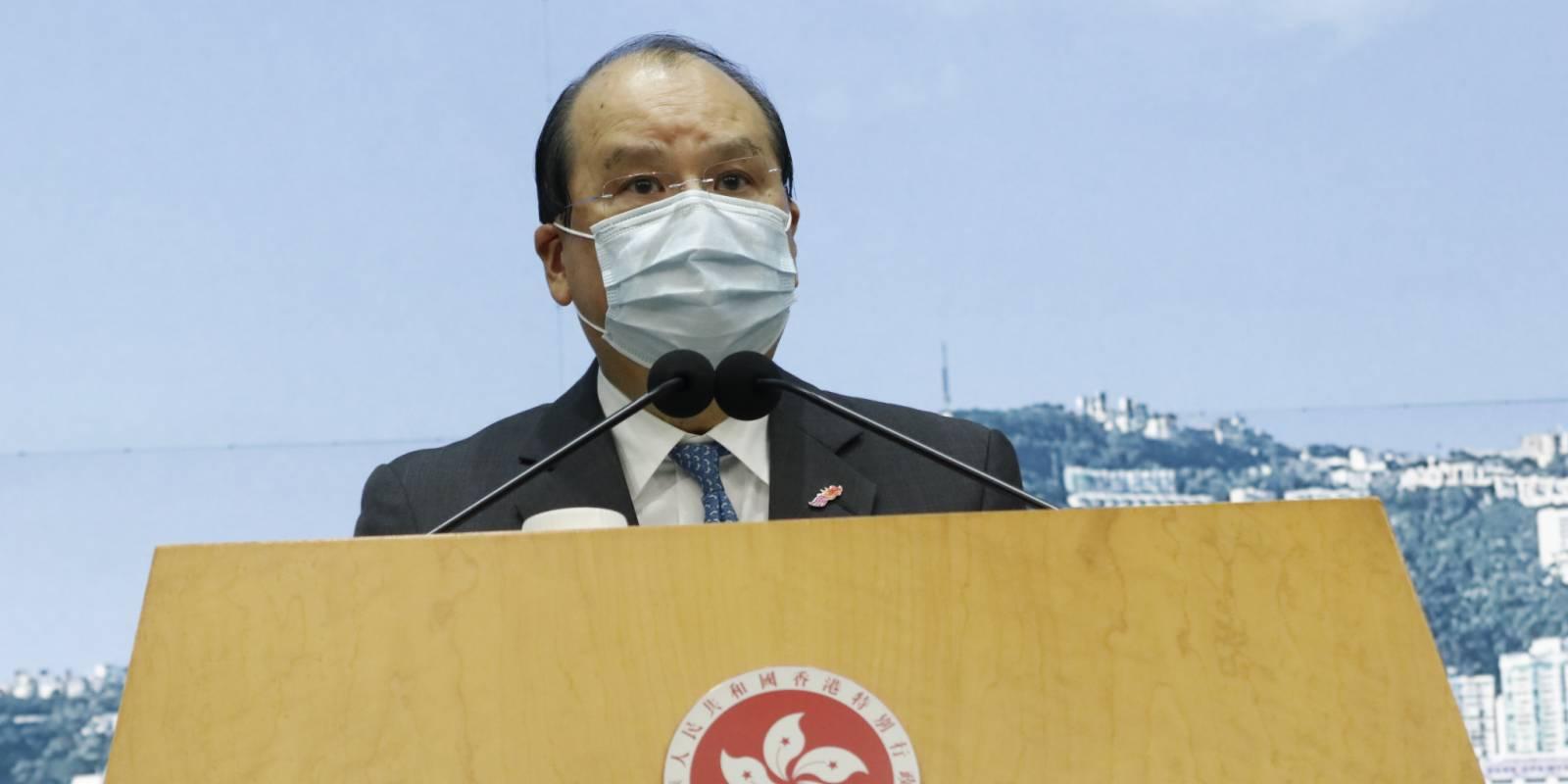 美就香港國安法再制裁4人 張建宗:野蠻無理