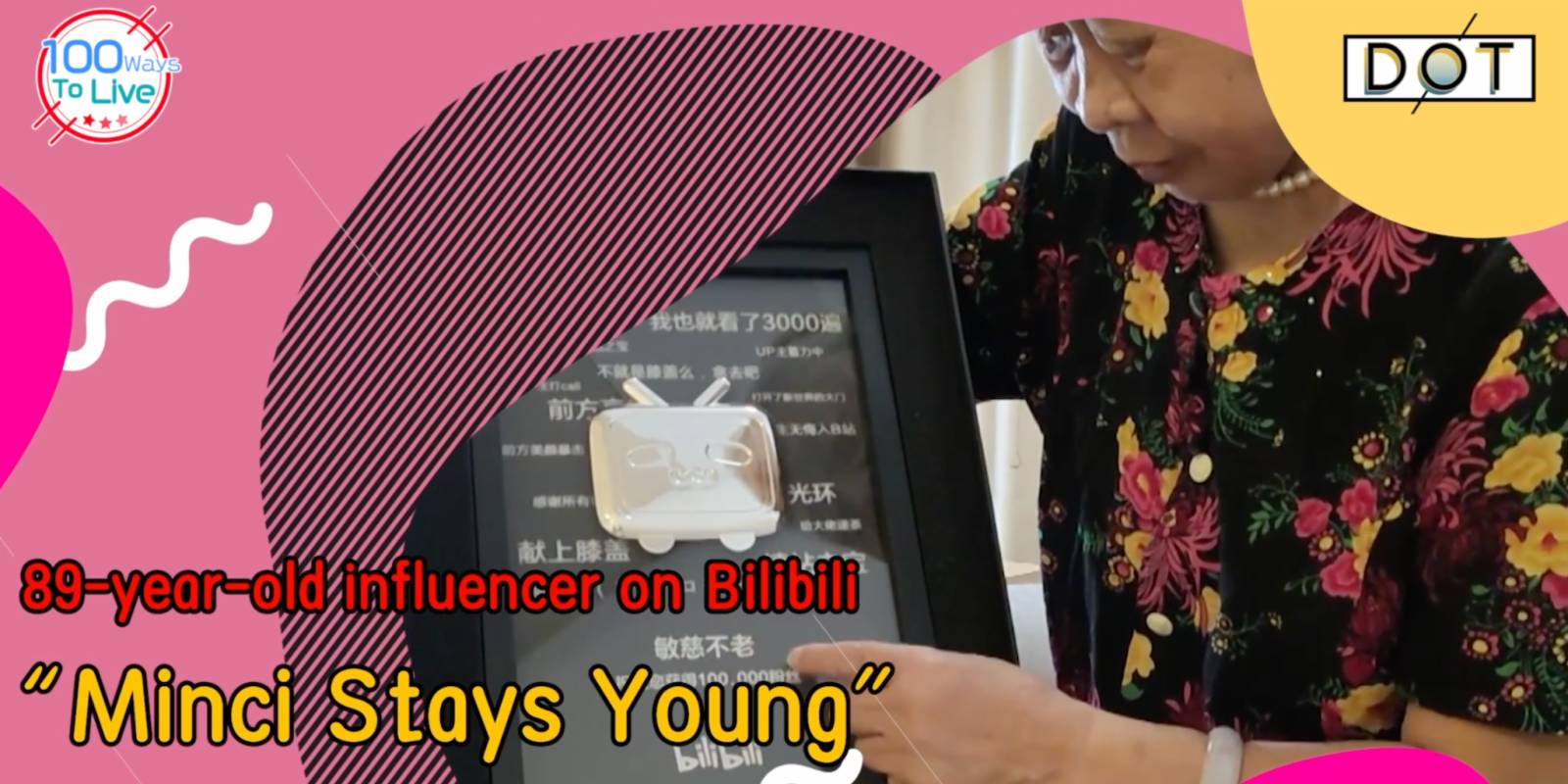 Never too late to 'be myself': 89-year-old grandma becomes video influencer