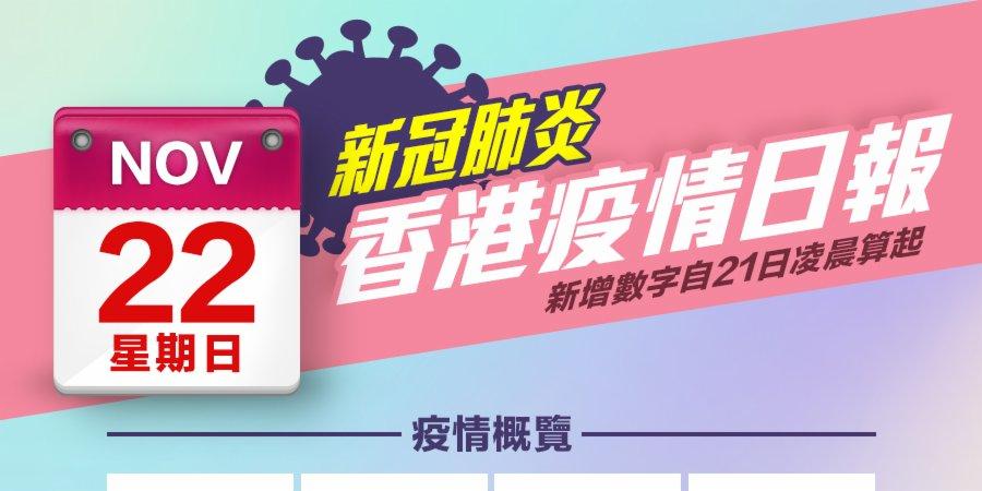 一圖 11月22日香港疫情日報