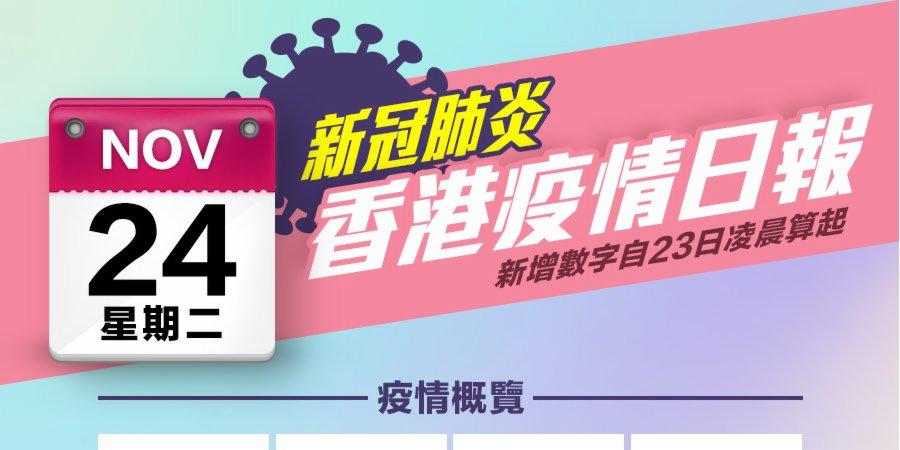 一圖 11月24日香港疫情日報