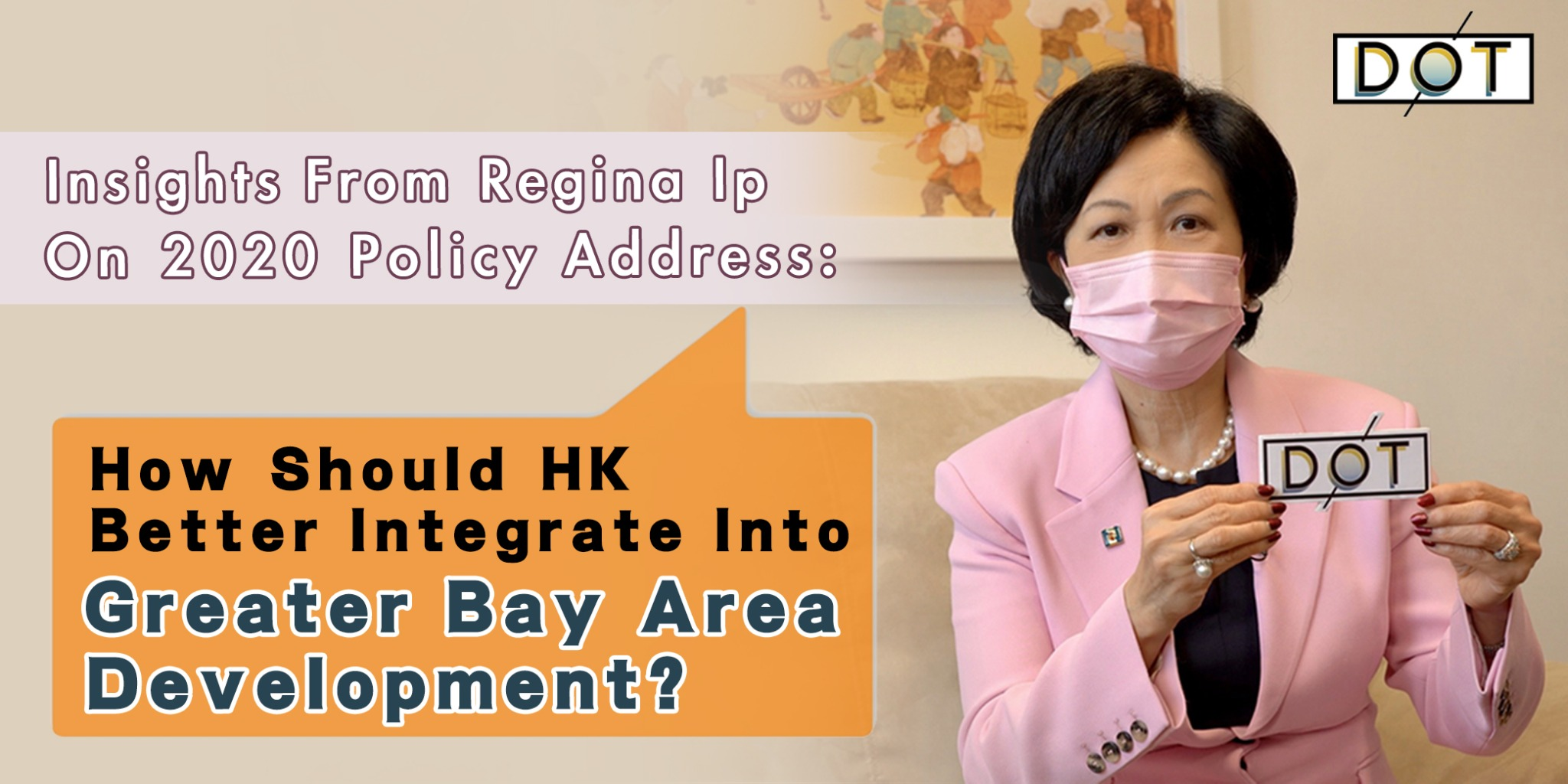 Exclusive | Insights of Regina Ip on Policy Address: How should HK overcome challenges & integrate into Greater Bay Area