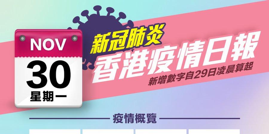 一圖|11月30日香港疫情日報