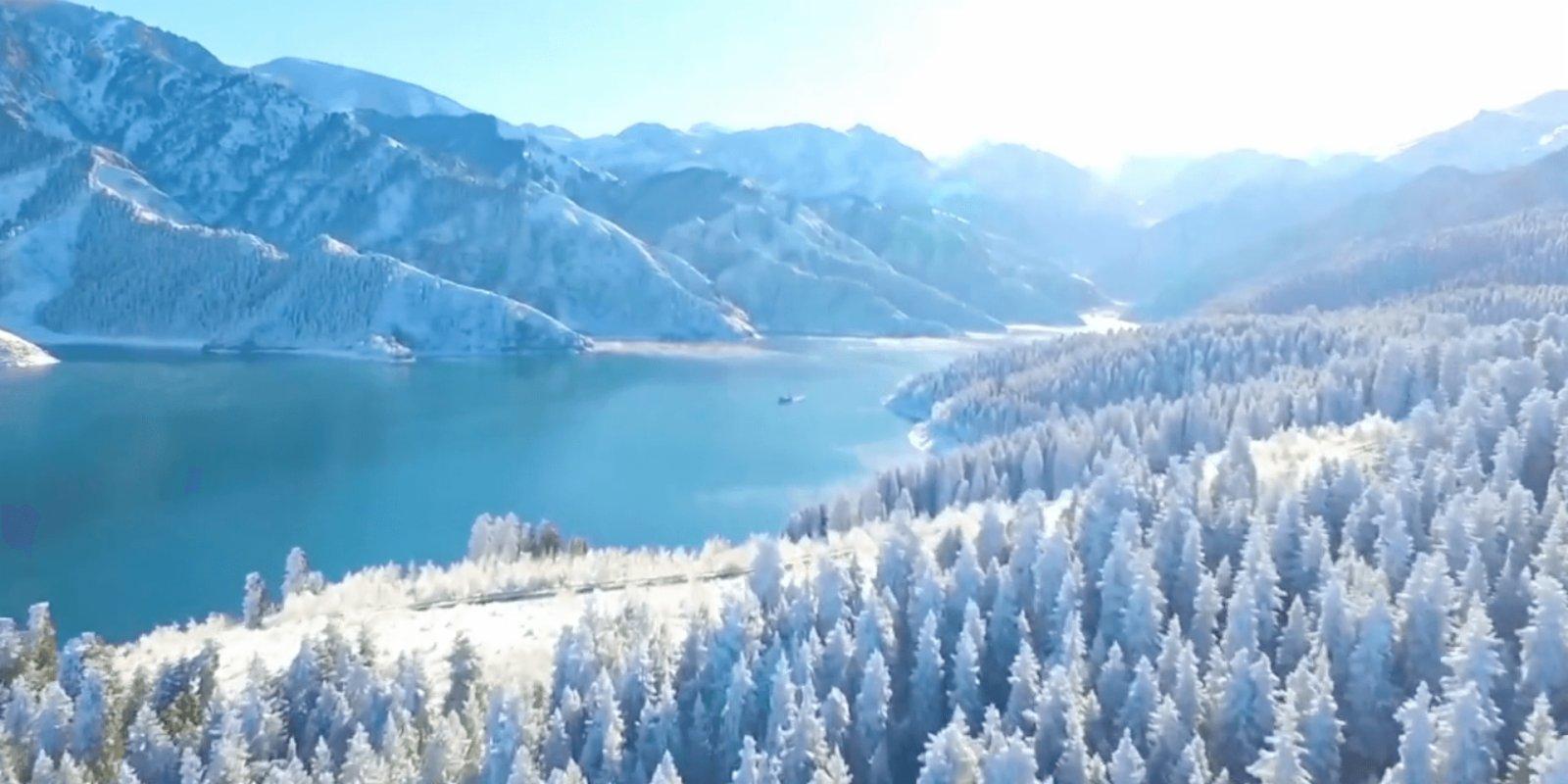 OMG   Breathtaking winter scenery in Xinjiang