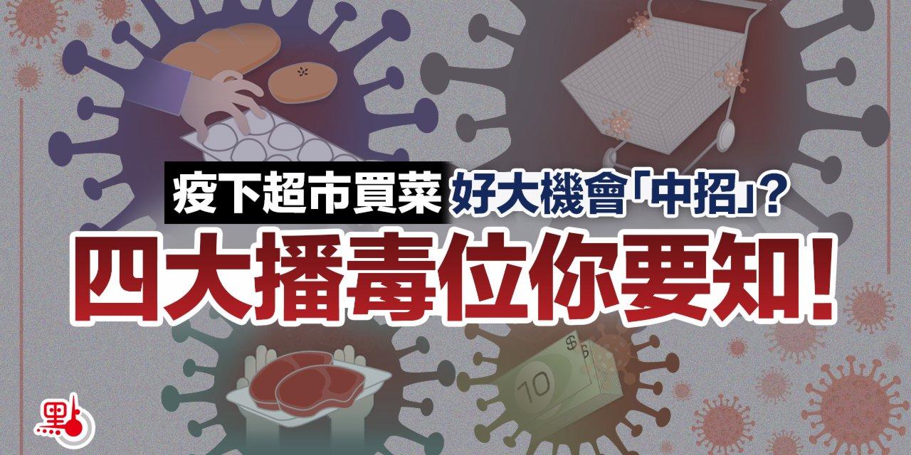 【動畫】疫下超市買菜 好大機會「中招」?四大播毒位你要知!