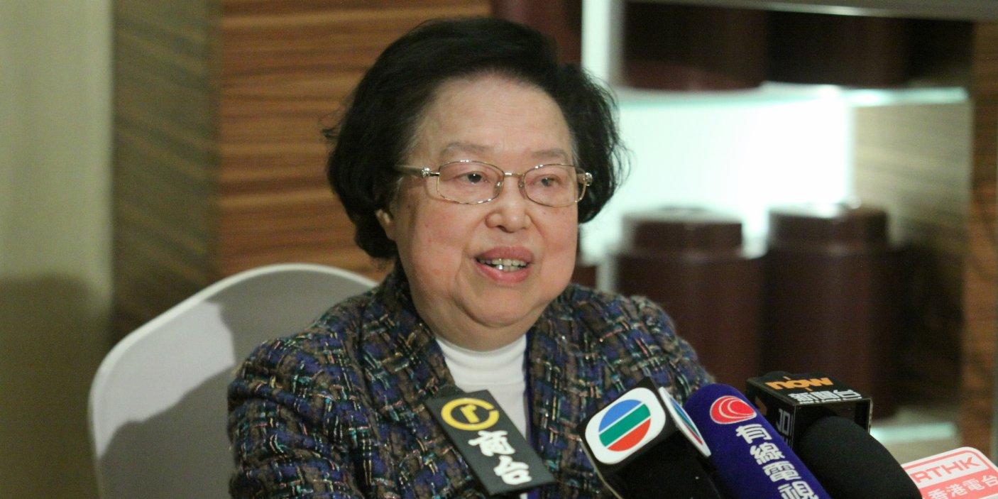 譚惠珠:攬炒派「初選」企圖癱瘓政府極自私