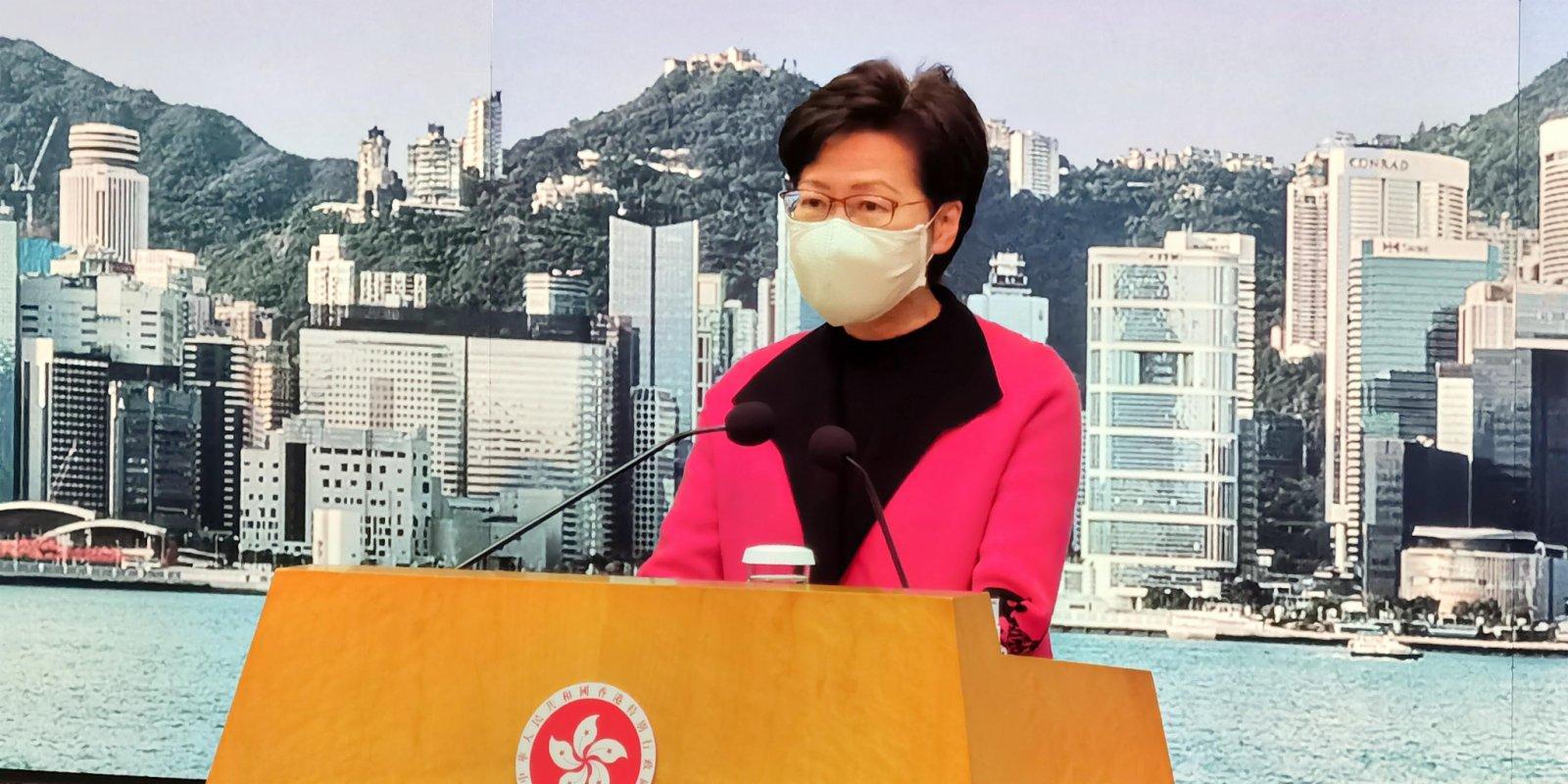 林鄭月娥:油麻地佐敦再劃核心區 區內居民須強檢
