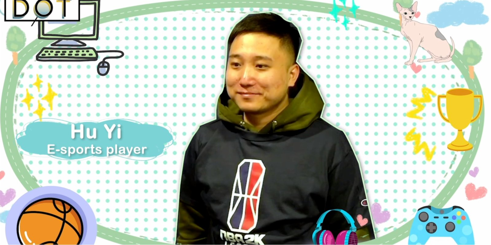 Watch This | E-sports professional: Hu Yi realizes his basketball dream virtually