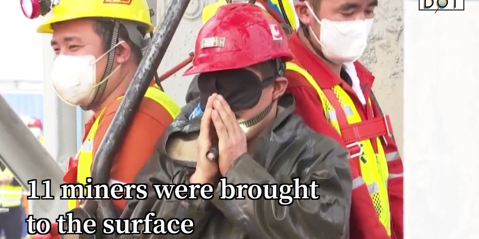 Watch This | China mine rescue: 11 miners brought to surface, 2 weeks after underground explosion