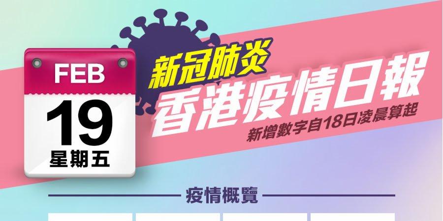 一圖|2月19日香港疫情日報