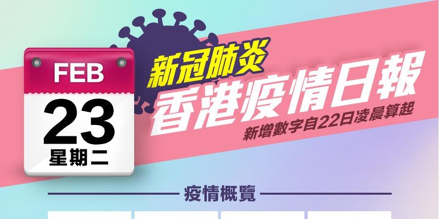 一圖|2月23日香港疫情日報