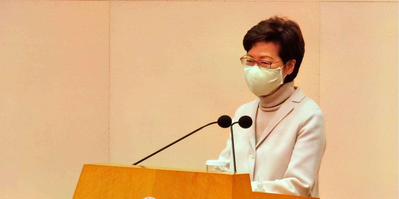 Hong Kong CE backs reform of electoral system