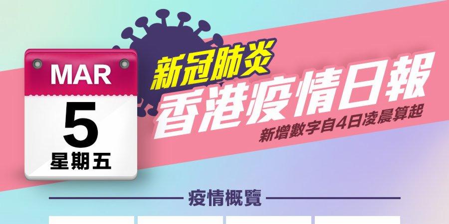 一圖|3月5日香港疫情日報