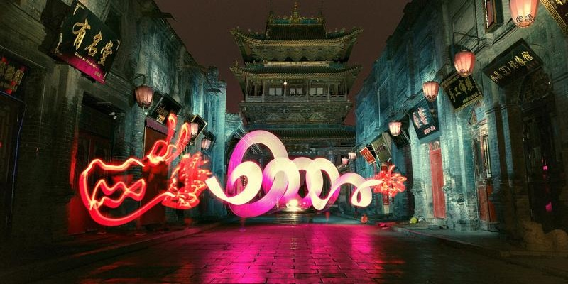 Watch This | When light painting meets Chinese mythical beasts