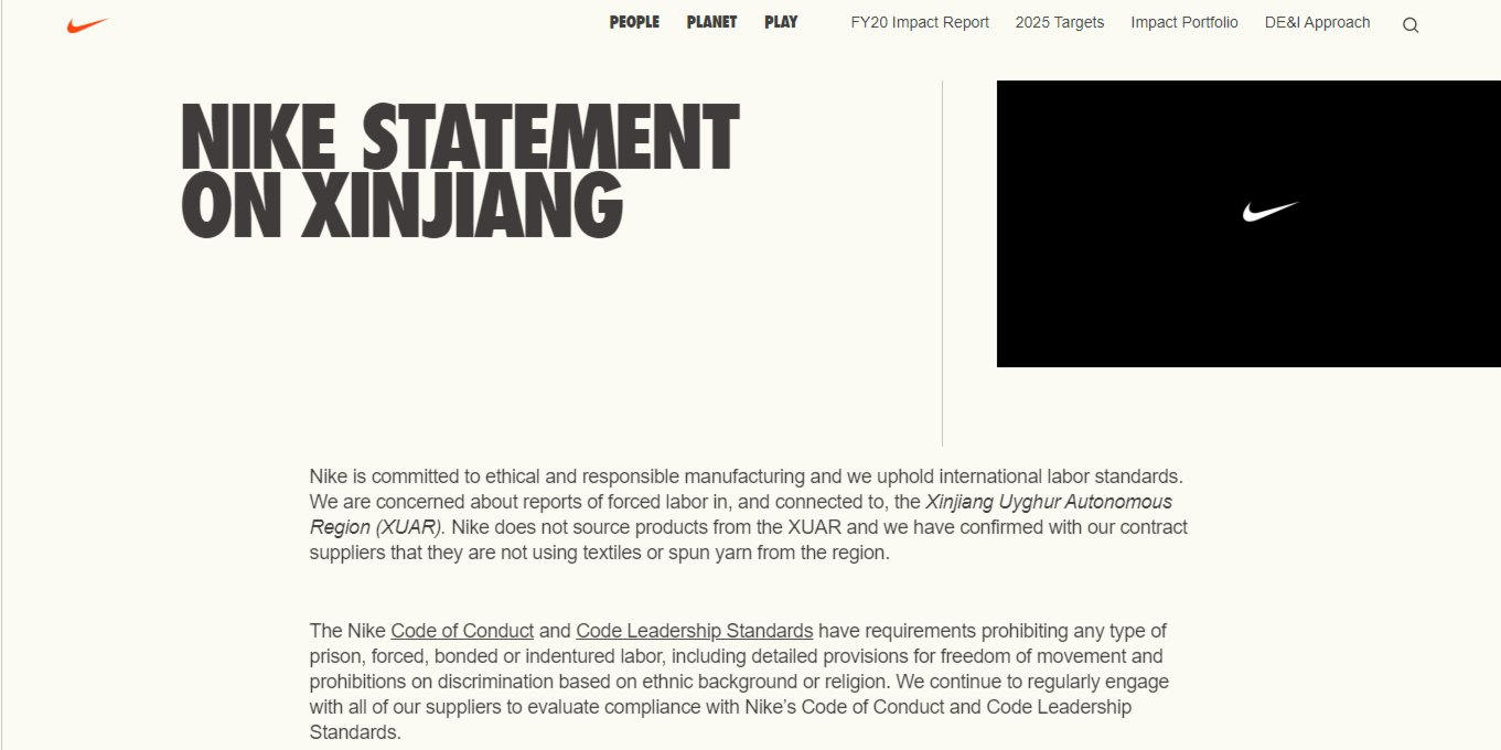 Nike, Adidas face backlash after H&M on Xinjiang cotton issue