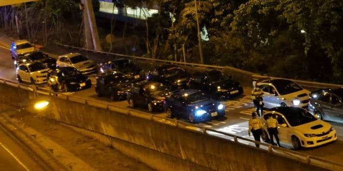 警方西九龍打擊非法賽車 查9車涉非法改裝