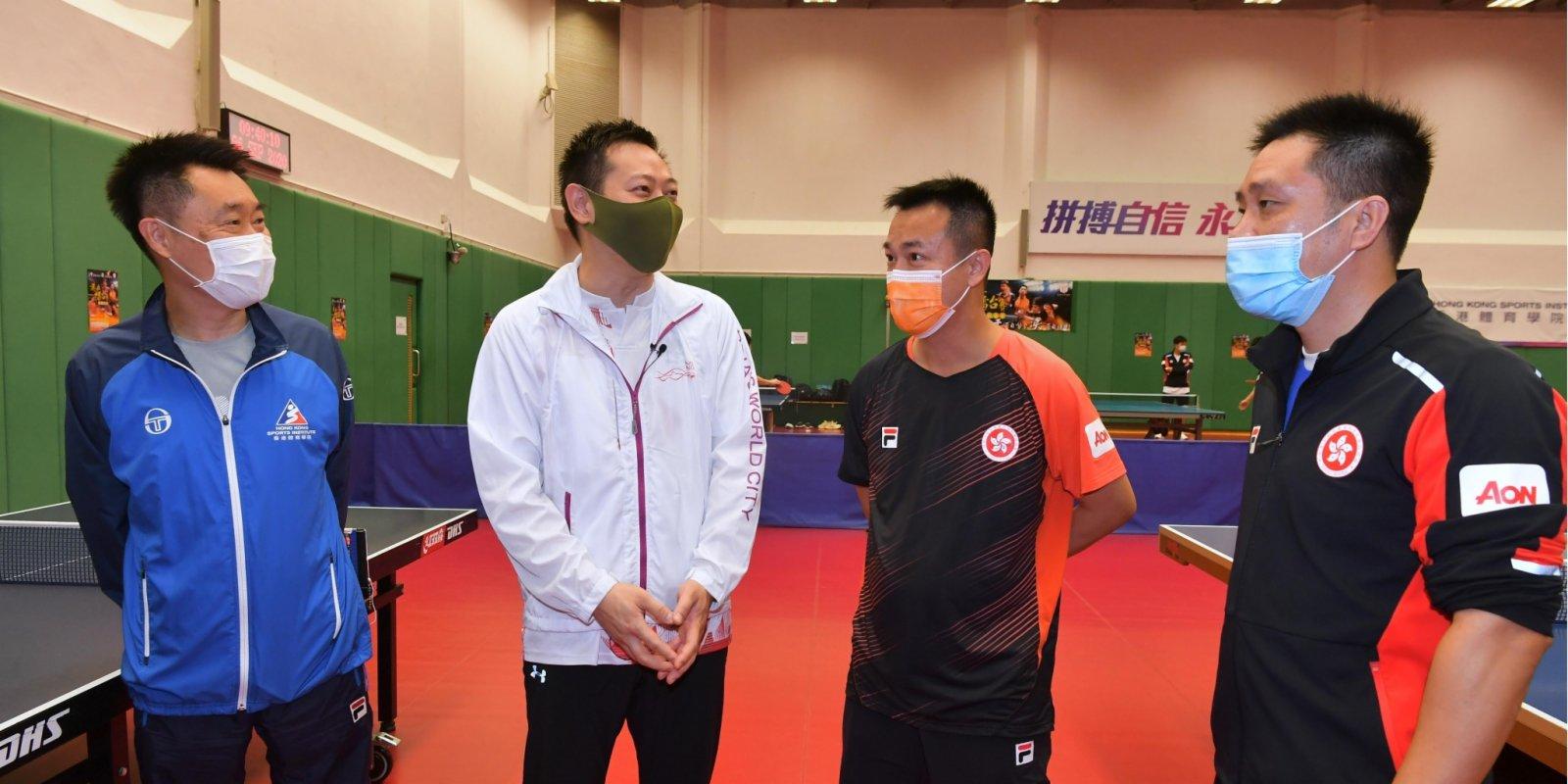 香港乒乓球隊北上練習 提升狀態備戰奧運