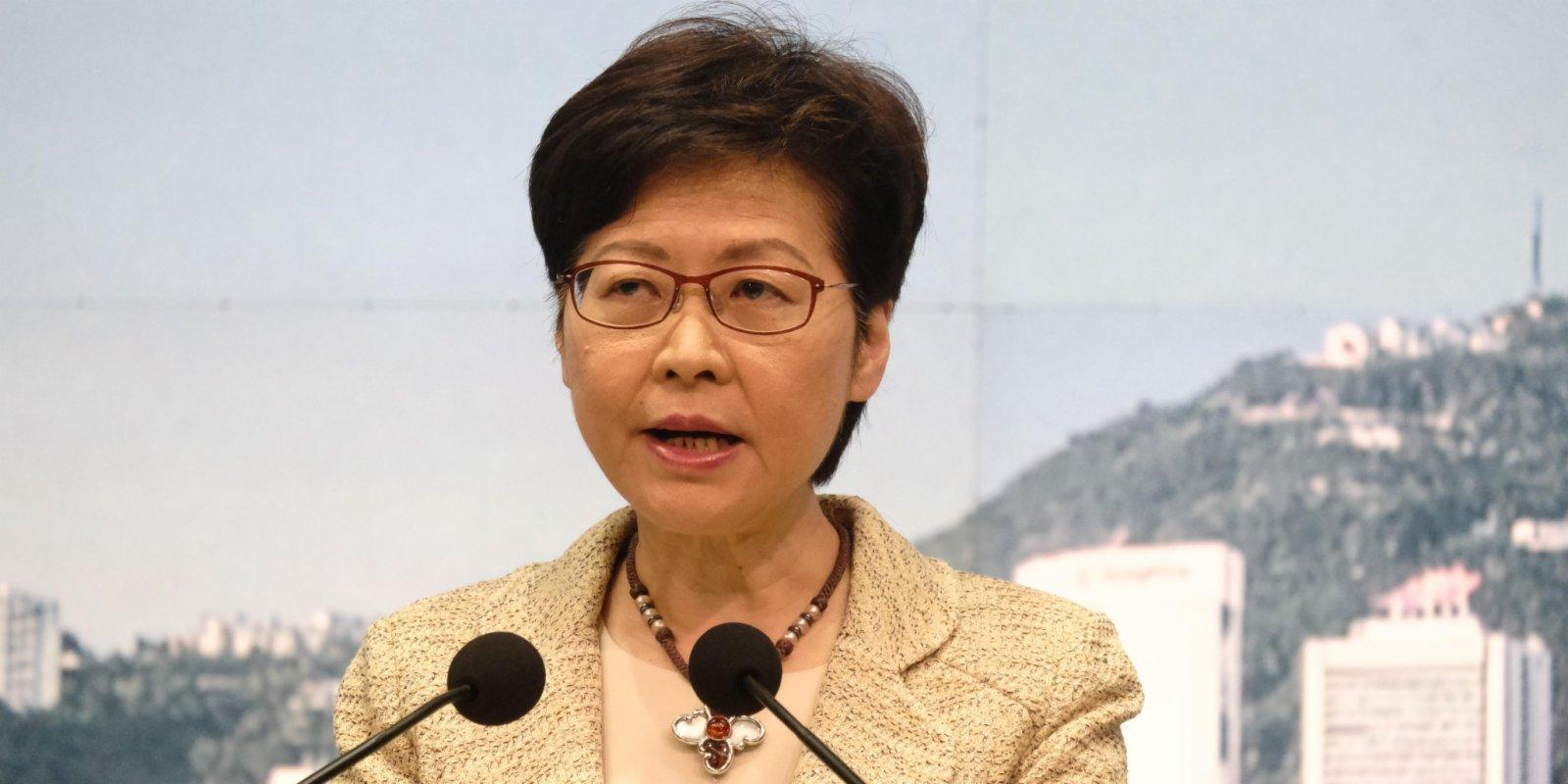 消息:林鄭月娥李家超及鄧炳強收粉末信