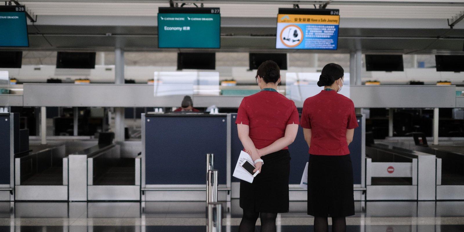 國泰8成駐港機師及4成機艙服務員預約或已打疫苗