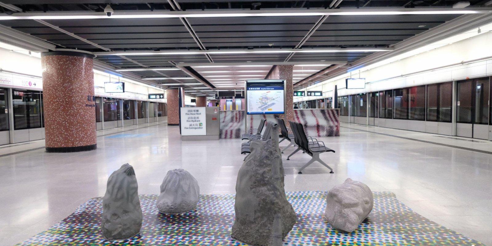 圖集 紅磡站新月台搶先看
