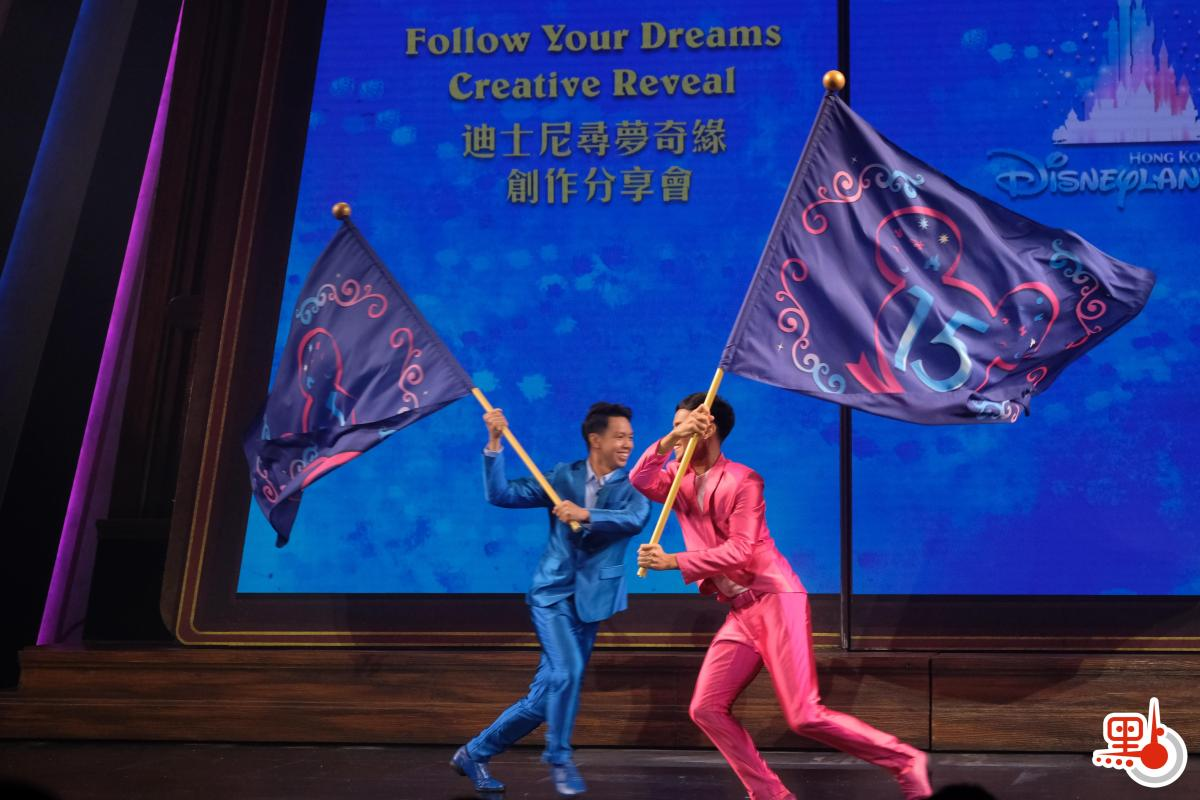 香港迪士尼樂園新城堡「奇妙夢想城堡」開幕半年,新城堡的全新日間匯演登場將於6月30日起登場,名為「迪士尼尋夢奇緣」。  樂園今日(9日)率先舉辦創作分享會,由幕後團隊分享創作,首次曝光部分表演,包括原創歌曲及重新編制的音樂,以及迪士尼朋友勇敢的追夢故事。  賓客將會跟隨米奇老鼠與多位全新配搭的迪士尼朋友,以令人耳目一新的音樂、舞蹈一起遊歷一場追夢之旅,啟發夢想,成就快樂。(點新聞記者麥鈞傑攝)