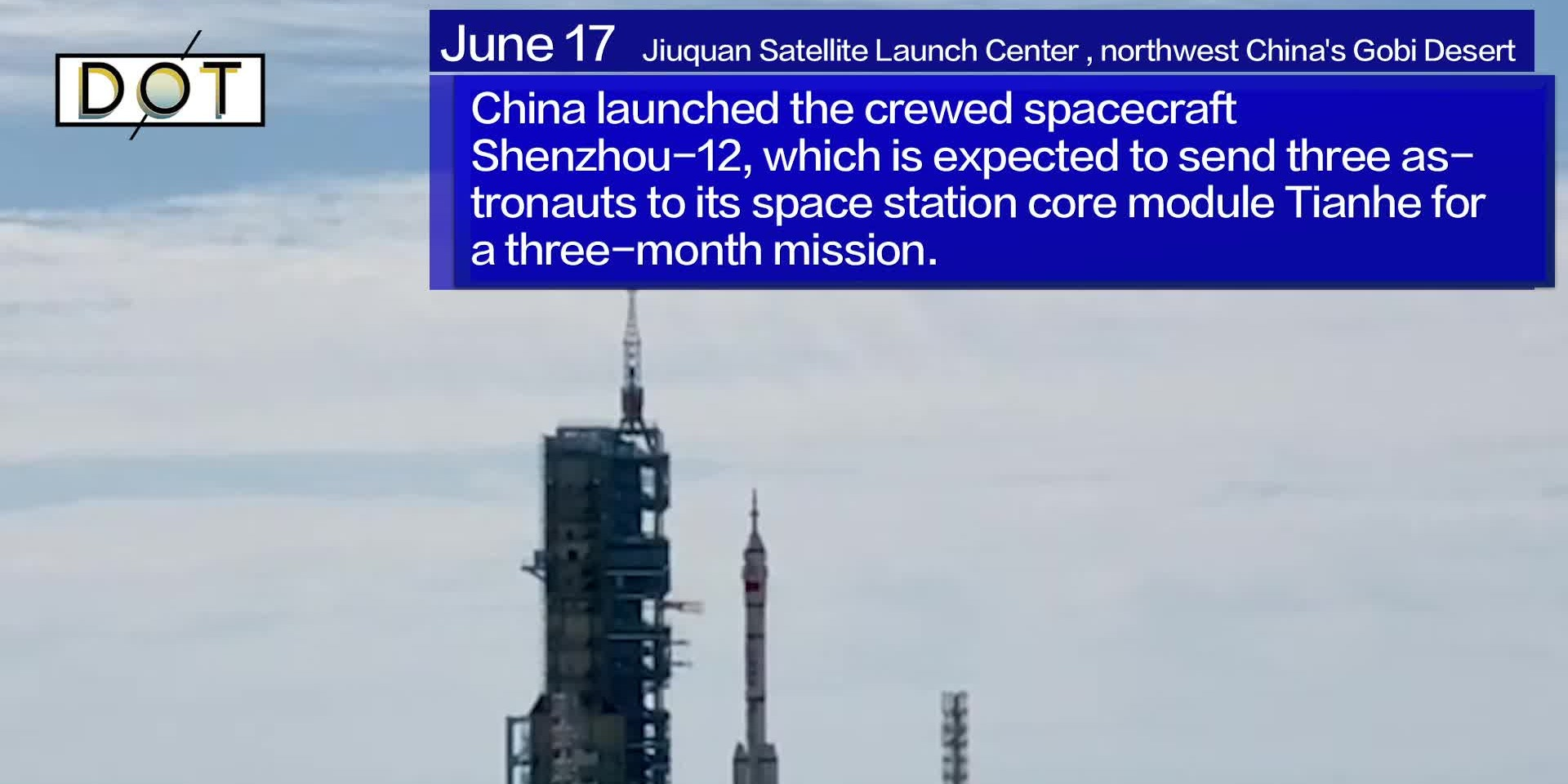 Watch This | China launches first crewed mission for space station construction