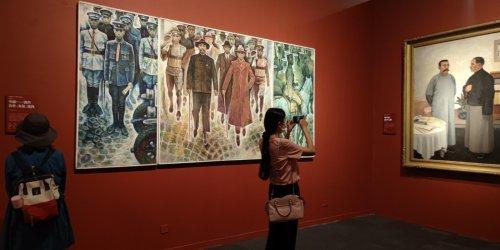 (多圖)國博展百件美術經典作品 獻禮建黨百年