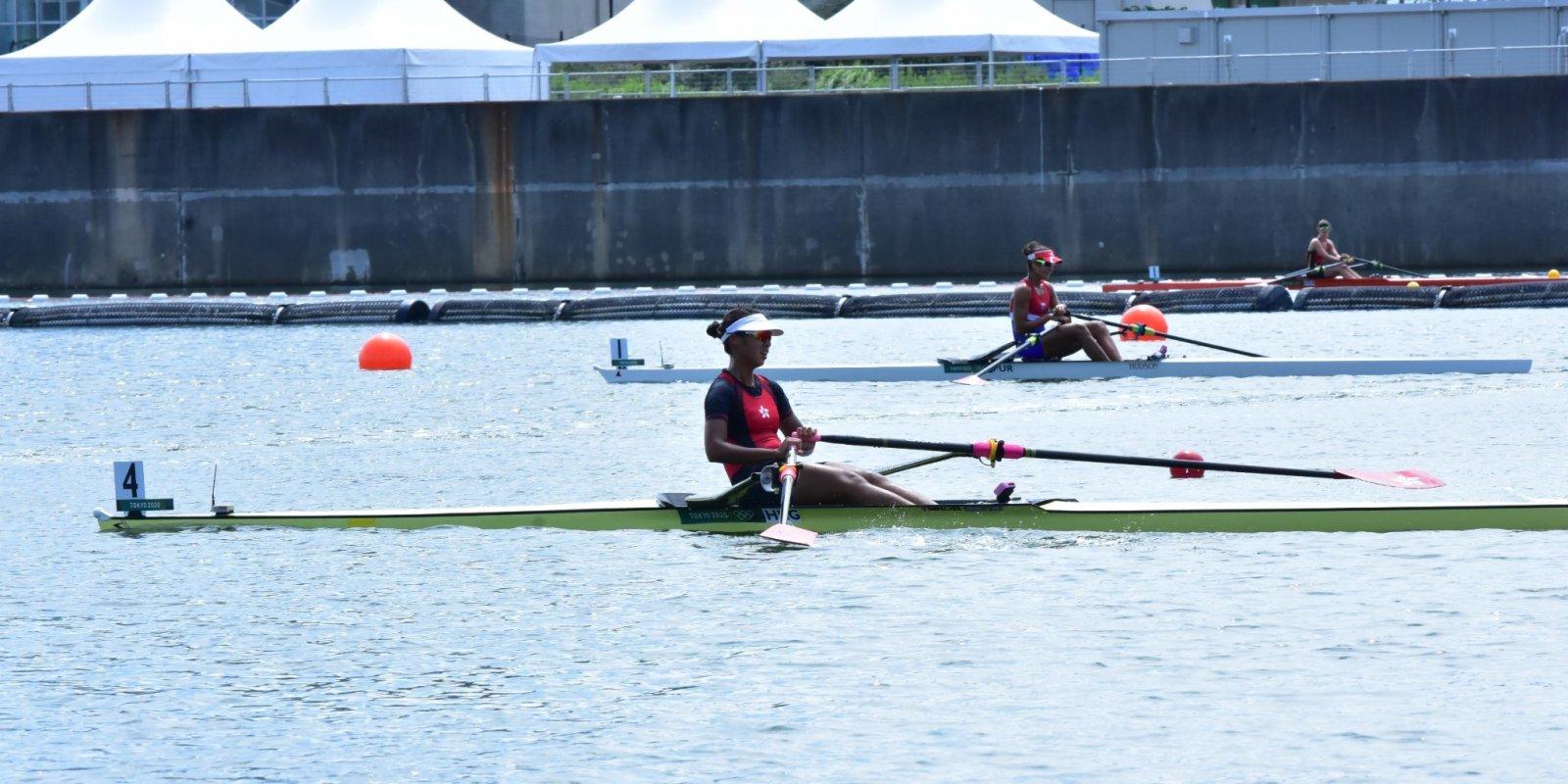 東京奧運丨港隊洪詠甄躋身單人雙槳艇半準決賽
