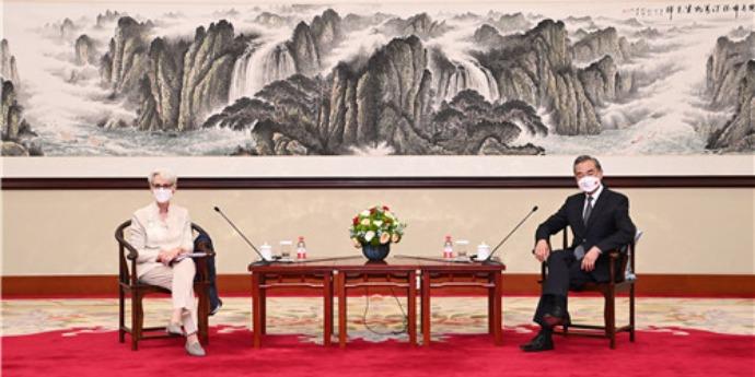 Wang Yi puts forth 'three basic demands' during meeting with US senior official Wendy Sherman