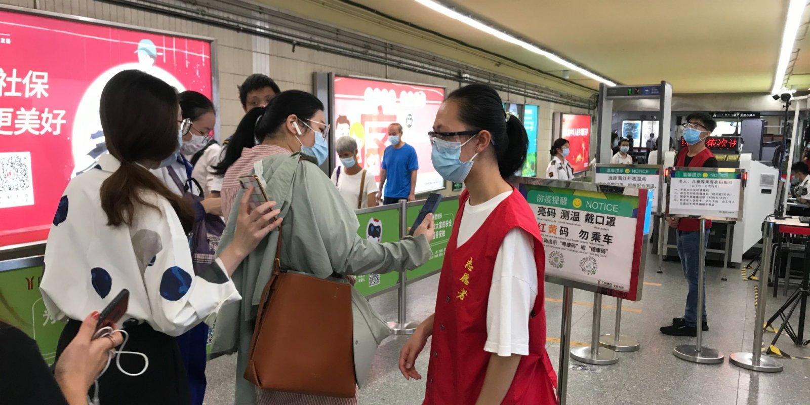 廣州收緊防控措施 公共交通恢復測溫亮碼