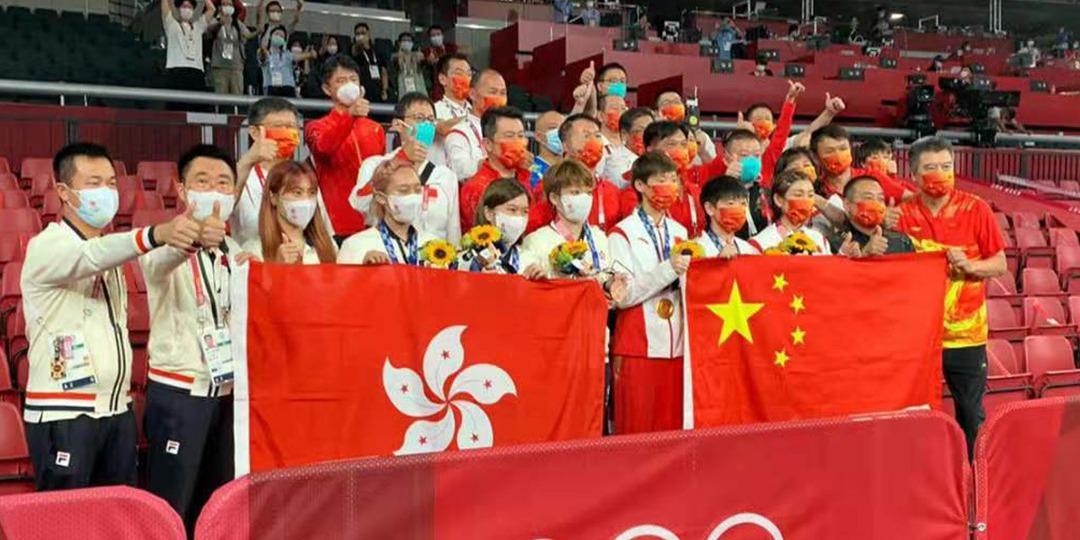 奧運女乒團體賽國家隊及港隊同獲獎牌 港隊教練:感謝國家隊