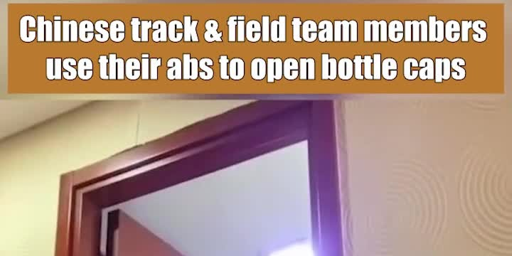 OMG | Chinese Olympic athletes use their abs to open bottle caps