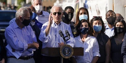 """Biden calls climate change """"everybody's crisis"""", tours flood-hit NYC after Ida"""