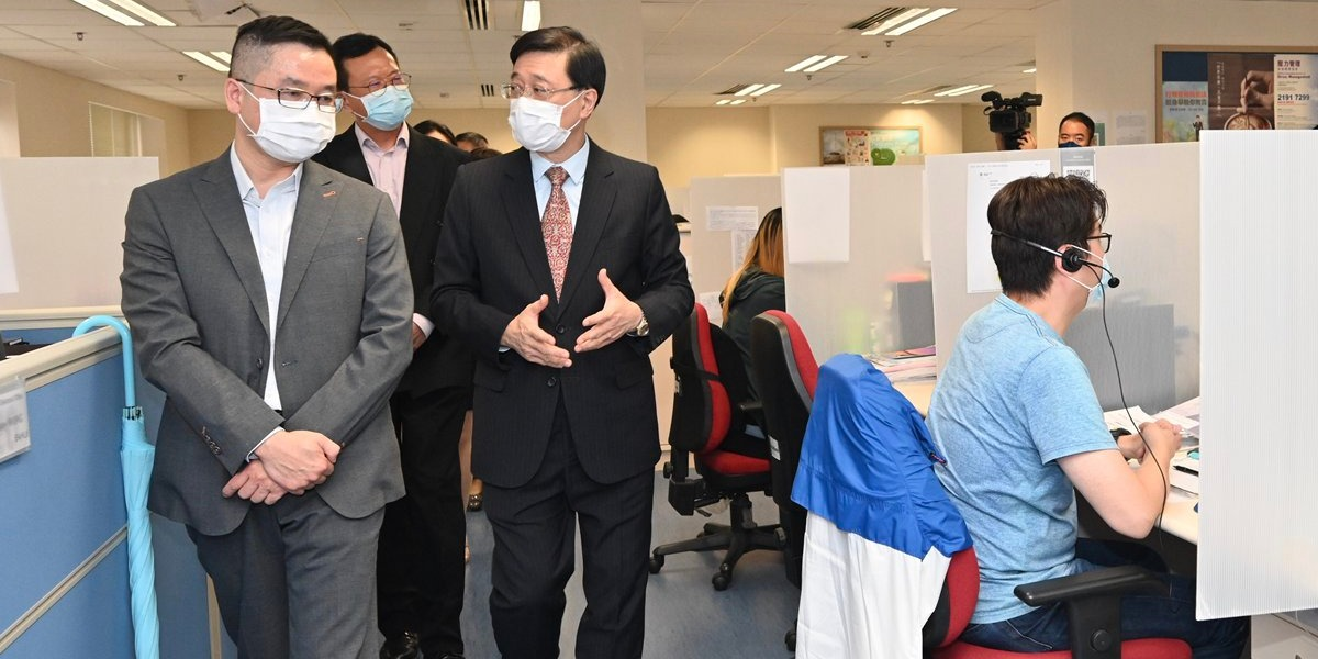 HK Chief Secretary inspects preparations for fair, orderly elections