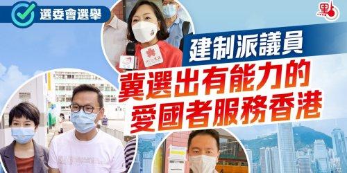 (有片)選委會選舉 建制派議員冀選出有能力的愛國者服務香港