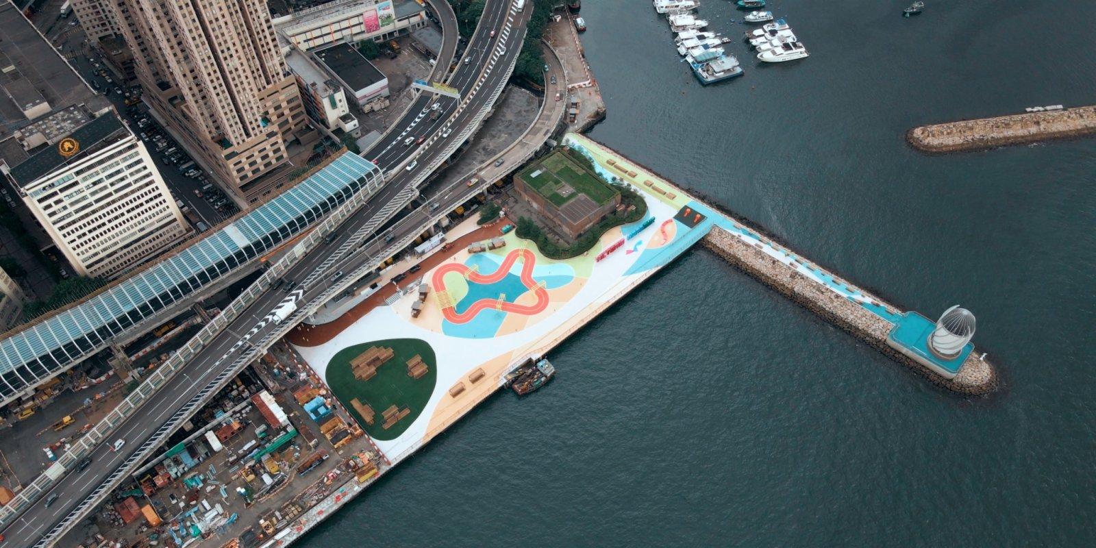 炮台山東岸公園主題區周六開放 維港首條向公眾開放防波堤