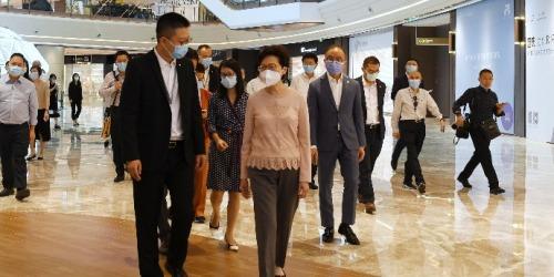 林鄭在重慶展開考察活動 冀港企可進一步參與兩江新區建設