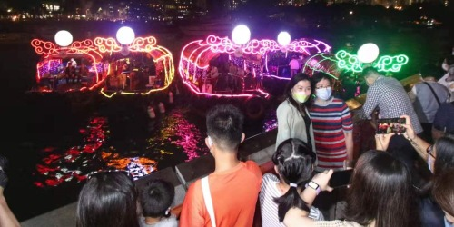 香港南區各界綵艇動感音樂遊歡慶國慶