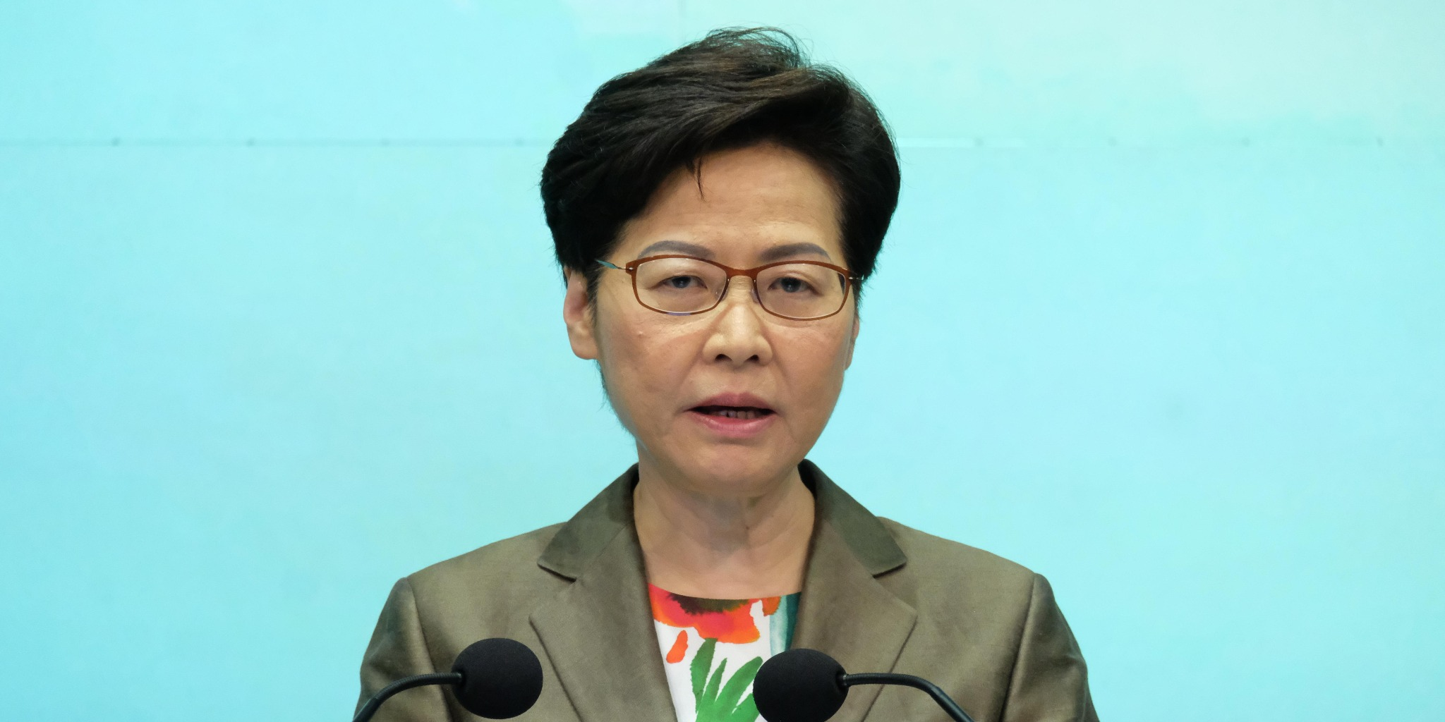林鄭:不挽留移民港人 施政報告展示香港未來