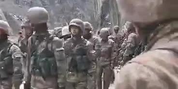 (有片)中國邊防士兵俘虜越線印軍視頻曝光